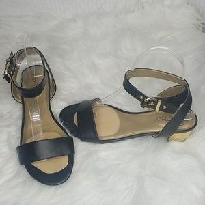 Ladies Me Too Shiny sandals excellent cond sz 7.5